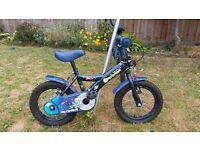 "12"" wheel Blue Apollo Moonman Bike kids bike ages 3-5"