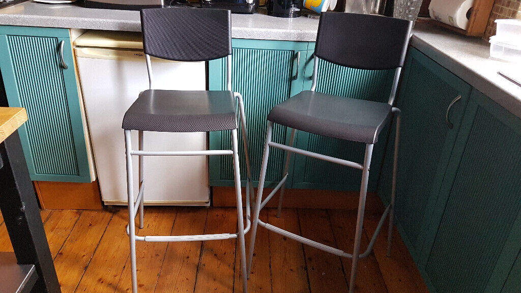 Strange Bar Stool Kitchen Ikea Stig With Backrest Black Silver Coloul 74Cm Free Delivery 5 Miles Glasgow In Southside Glasgow Gumtree Gmtry Best Dining Table And Chair Ideas Images Gmtryco