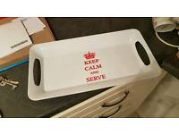 Keep Calm tea tray