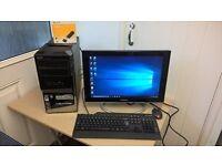 "Amd Phenom, Quad core PC, 8gb ram, 640gb hdd, Windows 10, 19"" wide-screen, (NORTH DORSET)"