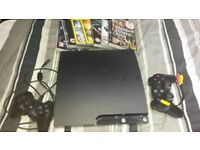 ps3 .2 consoles.7 games.rarely used.in good working order