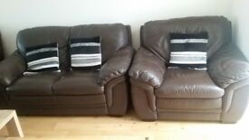 free leather sofas X 1 seater and X2 seater