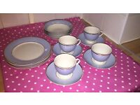 Royal Doulton Bruce Oldfield Blue and White dinner service