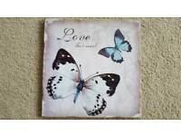 "BUTTERFLY ""LOVE MUCH"" PICTURE - BRAND NEW"