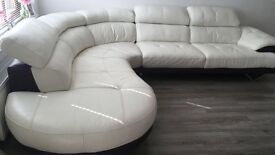 Corner suite white leather