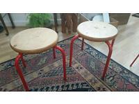 Vintage red stools