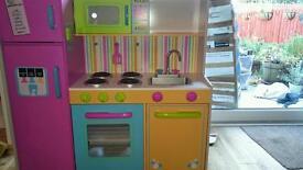 Children's kitchen ... kidkraft large bright wooden kitchen