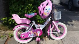 Disney Princess bike and matching helmet for up to age 5.