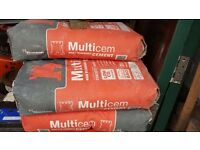 7x25kg Bags of Hanson Castle Multicem Cement