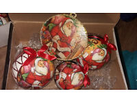 Box of 4 Handmade Christmas Baubles - Perfect gift