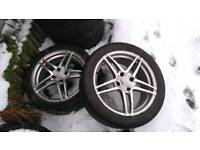 17 inch alloy wheels and tyres. Ford peugeot fitment