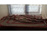 Hand Crochet Vintage Style Bed Rug Large