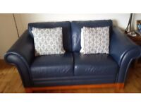 Blue Italian Leather Suite