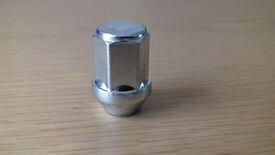 12 closed end wheel nuts, M12 x 1.5mm,60 degree taper