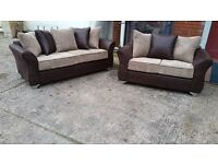 MILLY HAND MADE 3+2 FABRIC SOFA IN HIGH QUALITY SPRING BASE AND FIRM FOAM SEATS BRAND NEW £375