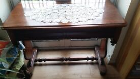 Antique mohogany wooden desk / side table