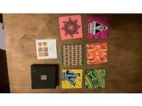 set of six 'shanghi' coasters bright and really lovely to look at