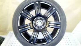 BMW 3series 17 inch wheels good tyres 200ono