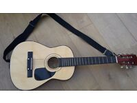 """Acoustic Guitar with strap, would suit a child learning to play, 30"""" length"""