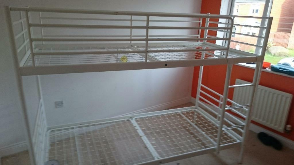 Ikea White Metal Bunk Bed Frame Buy Sale And Trade Ads