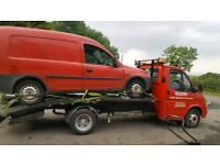 Scrap cars and vans bought for cash fast collection