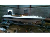 18ft broom speedboat