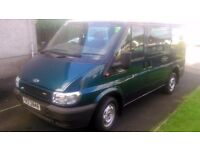 ford transit tourneo 9 seater with long mot.very clean .