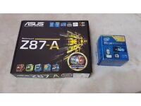 Intel Core i7 Possessor i7 4770K + Asus Z87 A Motherboard