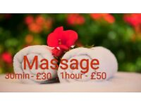 Relaxing Full Body Massage 1h/£50