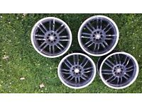 18 inch wolfrace alloy wheels