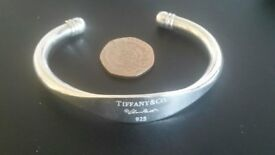 Ladies Tiffany Torque Bracelet Sterling Silver