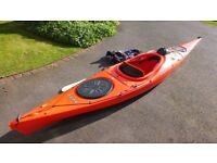 Venture Easky 13 Recreational Kayak, Paddle & Spray Deck