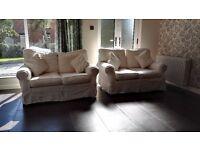 Cream suite 2 x two seater sofas