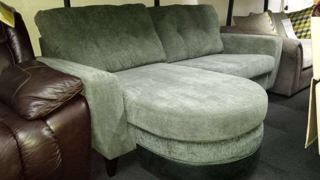 Grey Fabric Left Right Corner Sofa
