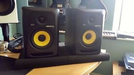 KRK Rokit 5 G3 Studio Monitor Speakers Pair with Isolation Pads (Boxed & VGC)