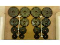 2 x 18.5kg dumbbells = 37kg of metal weight plates