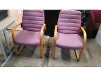 2 matching office chairs