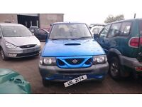 1997 NISSAN TERRANO II, 2.7 TDI, BREAKING FOR PARTS ONLY, POSTAGE AVAILABLE NATIONWIDE