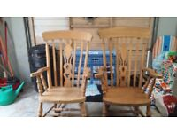 FOR SALE X2 ROCKING CHAIRS