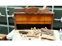 Antique tool kist /chest with 3 drawers