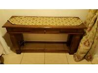 Hall table with runner