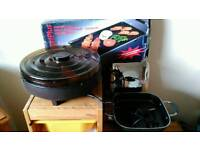 ELECTRIC MULTI COOKER PLUS LARGE GRILL & HOSTESS CAROUSEL FOOD WARMER