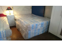 Orthopaedic double mattress and base