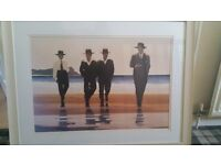 2x Jack Vettriano framed prints pictures (approx 70cm x 84 cm each)