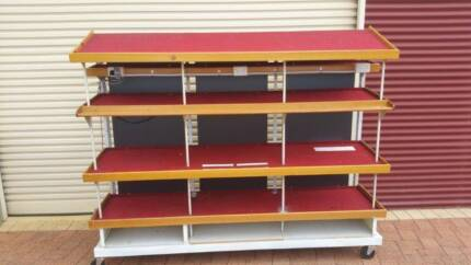 Garage Metal Shelving on wheels
