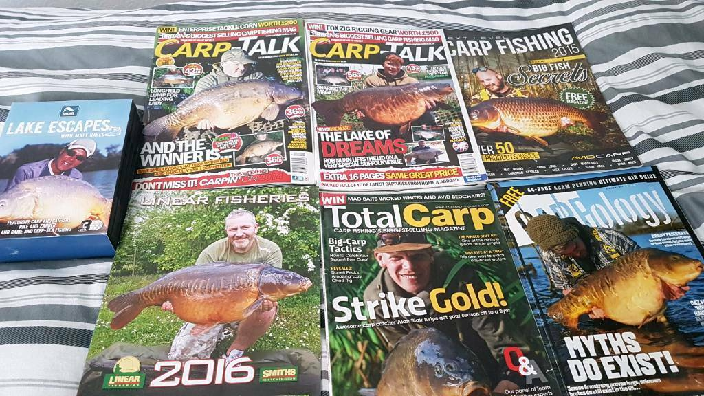 Carp magazines and lake escapes dvds