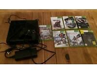 X BOX 360 E and 8 Games