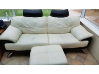 Free Used Leather Sofa (Collection Only)