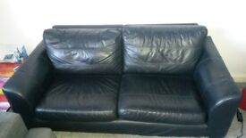 Black leather sofa for sale