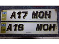 PRIVATE REGISTRATIONS FOR SALE .. A17 MOH AND A18 MOH